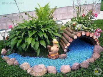 ایده خلاقانه برای طراحی باغچه