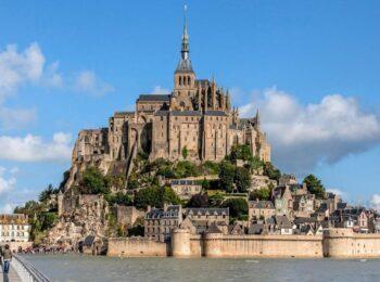 تصاویر هوایی از قلعه مونت سنت میشل Mont Saint Michel
